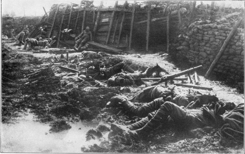 毒氣戰過後的戰壕