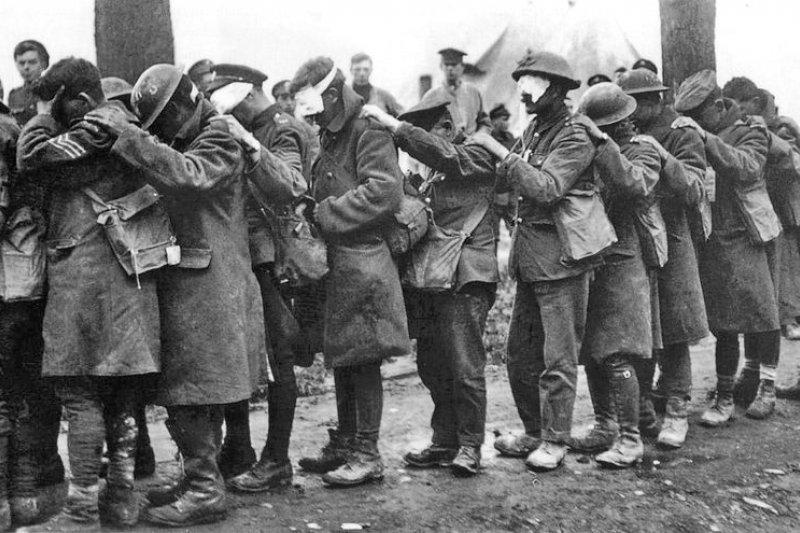 在晦氣戰中喪失視力的英軍官兵