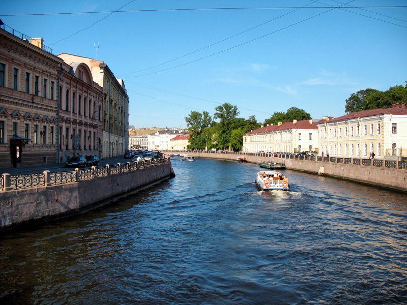 俄羅斯聖彼得堡的運河風光。